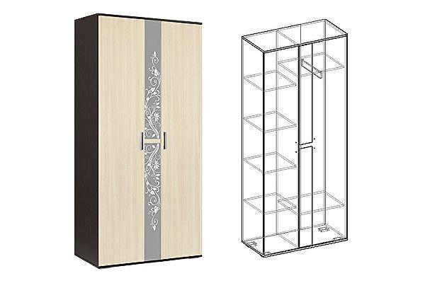 Шкаф Мебель Маркет Алегро 2х створчатый (Венге/Дуб)