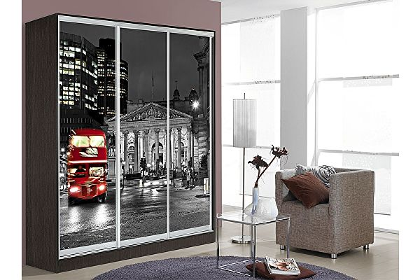 Шкаф-купе Мебель Маркет Оскар 3 Лондон (Венге)