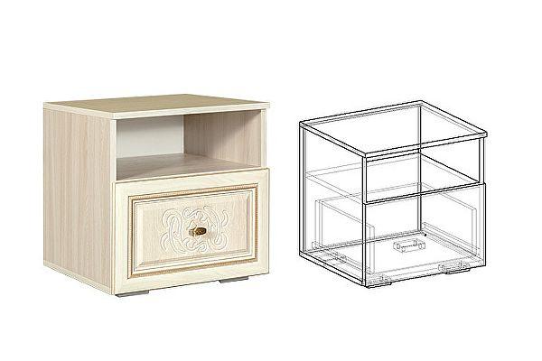Тумба прикроватная Мебель Маркет Виктория (Джина) (2 шт в комплекте)