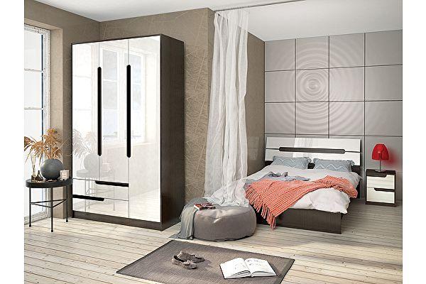 Готовая спальня ТЭКС Гавана (Белый Глянец). Комплект 1