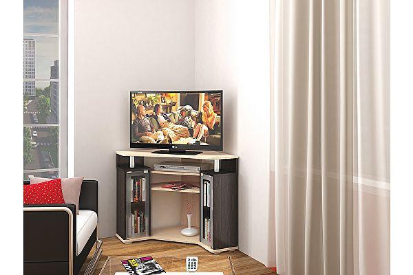 Угловая ТВ-тумба ТЭКС 044 (2у) (Венге)