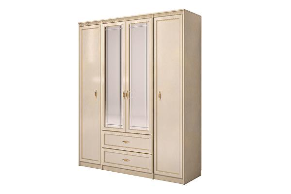 Шкаф Ижмебель Милан 2 для одежды 4-дв. с ящиком