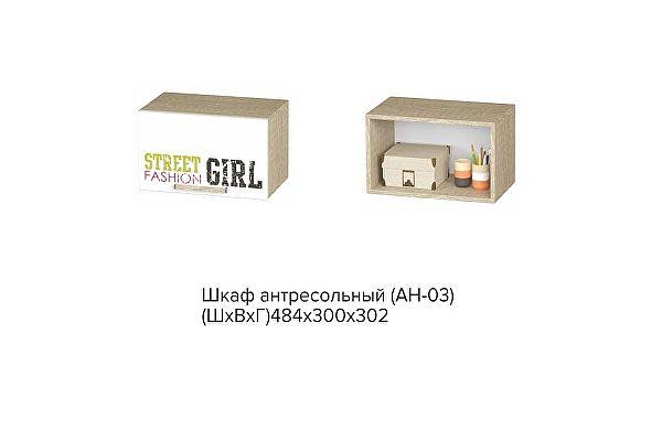 Шкаф антресольный BTS Сенди АН-03 STREET GIRL