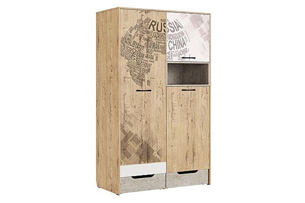 Шкаф МСТ Дублин Стоун для одежды, модуль 10