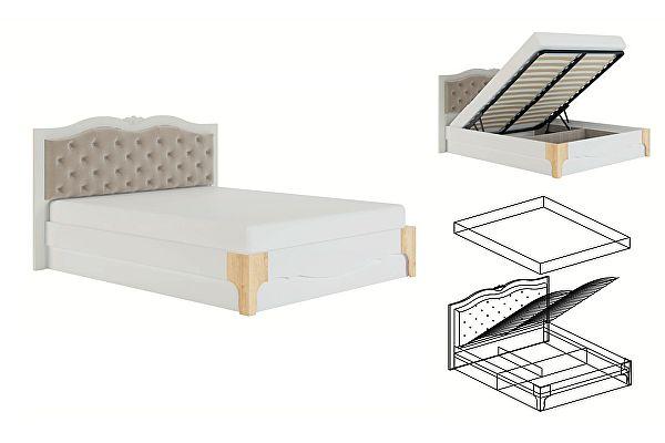Кровать с мягкой спинкой 1,8 МСТ Элен мод № 2.4 ПМ