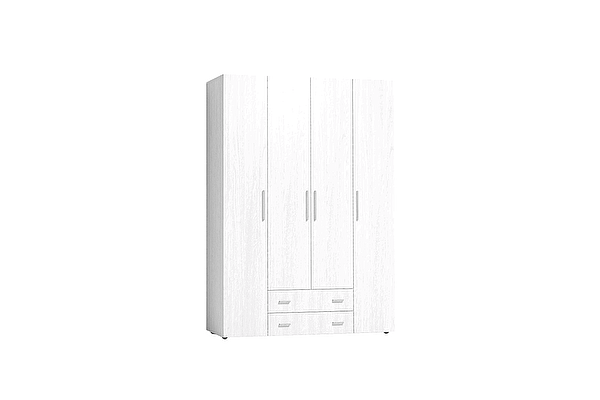 Шкаф для одежды и белья Глазов Монако 555 Стандарт, Белый