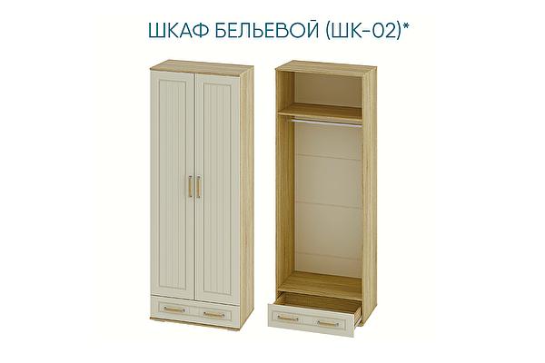 Шкаф двухстворчатый  бельевой Мебелони Маркиза ШК-02