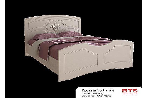 Кровать BTS Лилия 160 с настилом, без матраса
