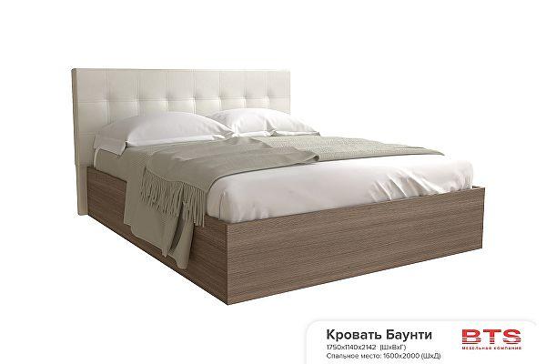 Кровать BTS Баунти 160х200 без матраса