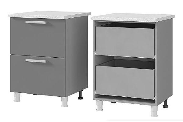 Шкаф-стол BTS Мята, Имбирь, Карри 6Р2 с 2-мя ящиками