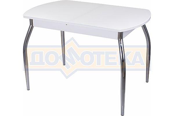 Стол со стеклом Домотека Танго ПО БЛ ст-БЛ 01 ,белый