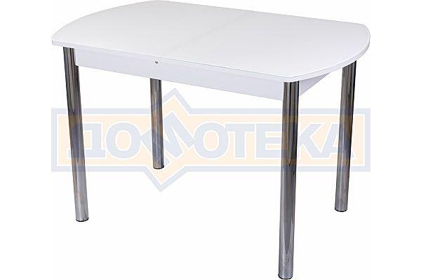Стол со стеклом Домотека Танго ПО БЛ ст-БЛ 02 ,белый