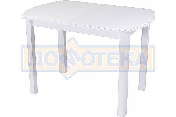Стол со стеклом Домотека Танго ПО БЛ ст-БЛ 04 БЛ ,белый