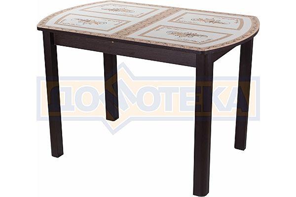Обеденный стол со стеклом Домотека Танго ПО ВН ст-72 04 ВН ,венге