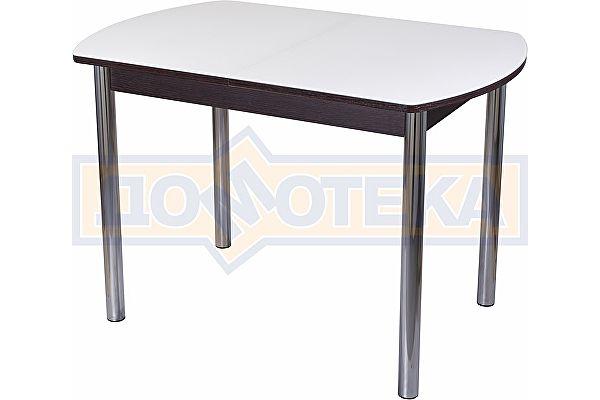 Стол со стеклом Домотека Танго ПО ВН ст-БЛ 02 ,венге