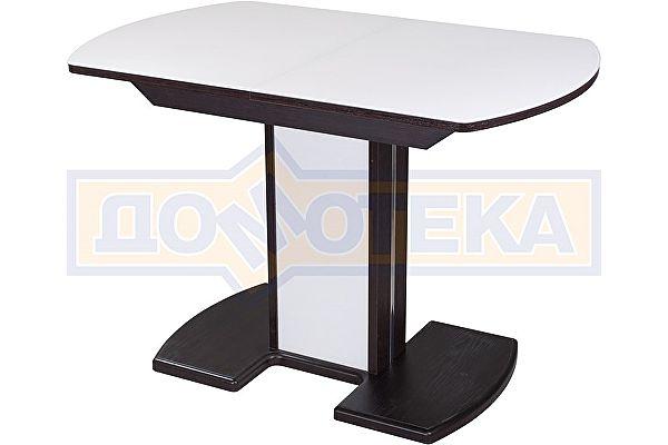 Стол со стеклом Домотека Танго ПО ВН ст-БЛ 05 ВН/БЛ ,венге