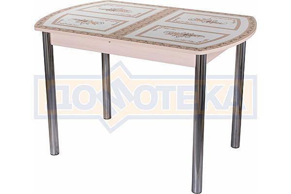 Стол со стеклом Домотека Танго ПО МД ст-72 02 ,молочный дуб