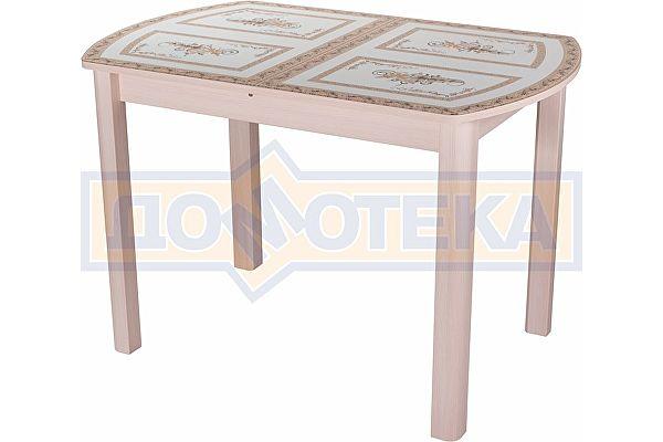 Стол со стеклом Домотека Танго ПО МД ст-72 04 МД ,молочный дуб