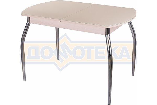 Стол со стеклом Домотека Танго ПО МД ст-КР 01 ,молочный дуб