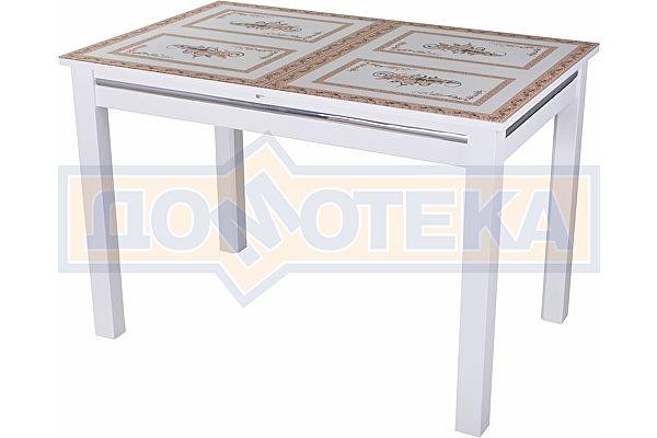 Стол со стеклом Домотека Вальс БЛ ст-72 08 БЛ, белый