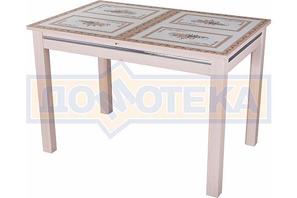 Стол со стеклом Домотека Вальс МД ст-72 08 МД, молочный дуб