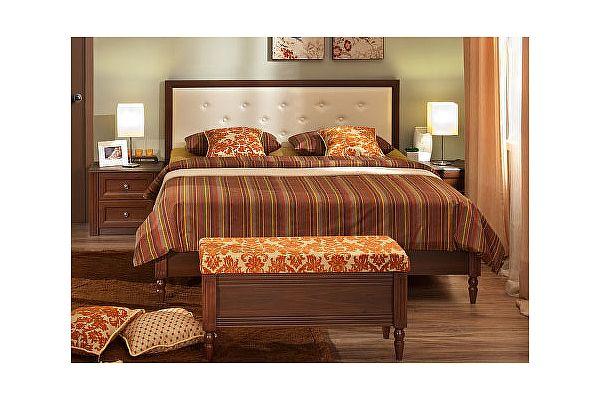 Кровать 2 (160) Montpellier Глазов, орех шоколадный