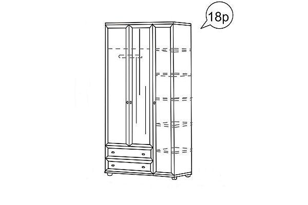 Шкаф Ника-Люкс 3-х дверный для одежды АРТ 18р