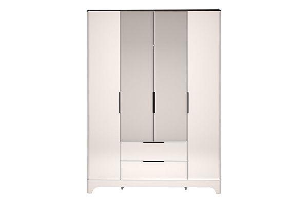 Шкаф Ижмебель Танго 4х дверный с ящиком и зеркалом, арт.02
