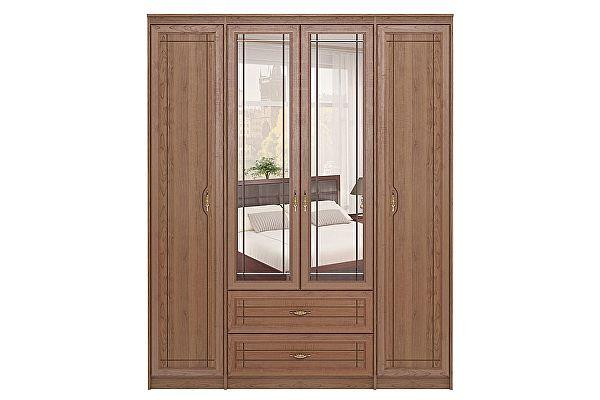 Шкаф Ижмебель Лондон 4х дверный для одежды с ящиками, мод 2