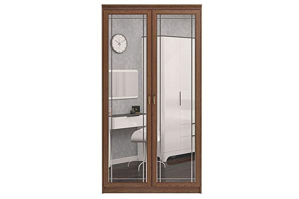 Шкаф Ижмебель Лондон 2х дверный для одежды с зеркалами, мод 16