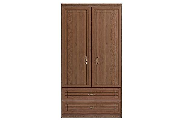 Шкаф Ижмебель Лондон 2х дверный для одежды и белья с ящиками без зеркал, мод 17