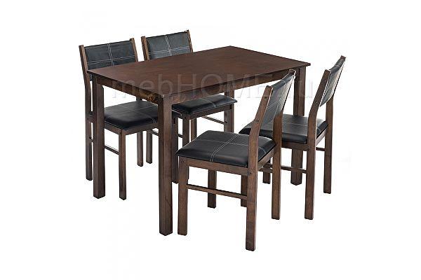Обеденная группа Woodville Bahamas (стол и 4 стула) oak / black