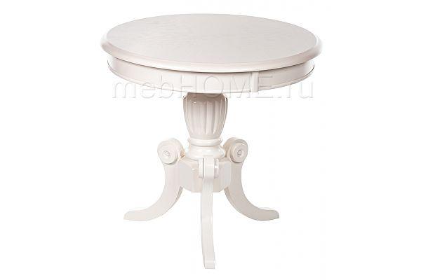 Стол деревянный MOON butter white