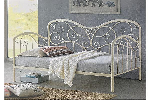 Кровать Woodville Inga glossy ivory