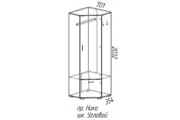 Шкаф угловой Эра Ника (ШУ701)
