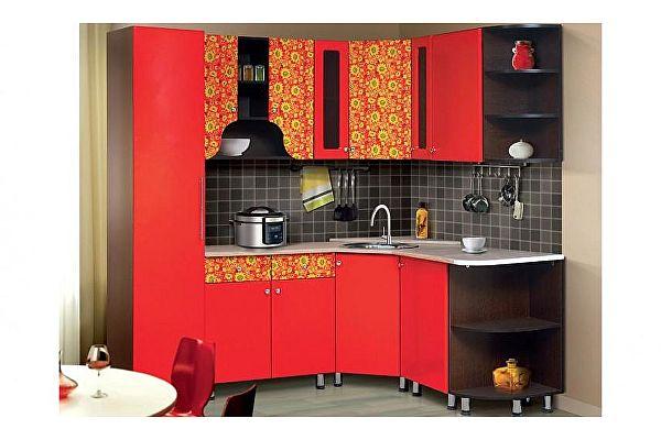 Кухонный гарнитур Аджио Хохлома-5