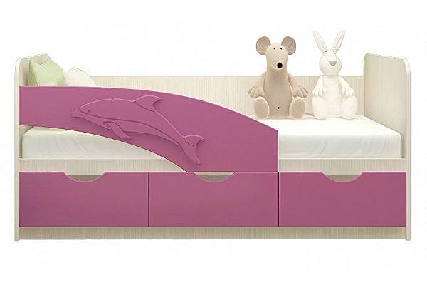 Детская кровать Московский Дом Мебели Дельфин 80/200, сиреневая