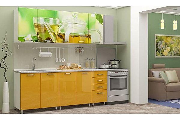 Кухня с фотопечатью Регион 58 Чайник 2.0 м МДФ