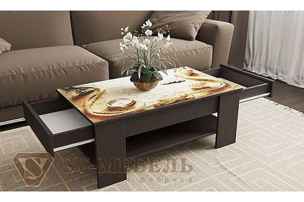 Стол журнальный SV-мебель №7 (Стекло с фотопечатью)