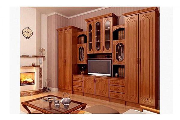 Гостиная Миф Альберт со шкафами матовая