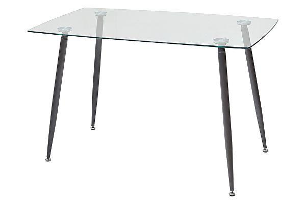 Стеклянный обеденный стол M-City RON 120 прозрачный