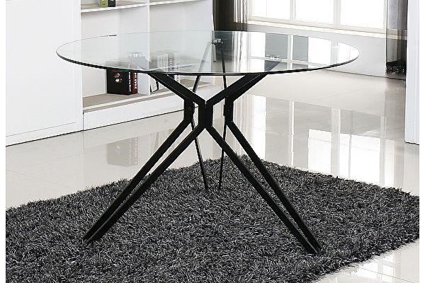 Стеклянный обеденный стол M-City VENETO D110 прозрачный