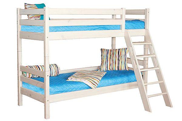 Кровать МебельГрад Соня 2х ярусная с наклонной лестницей, вариант 10