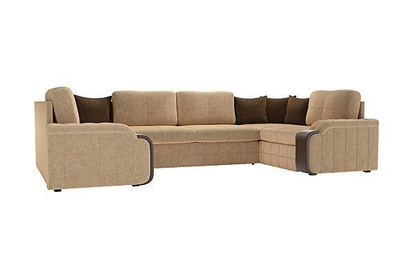 П-образный диван Мебелико Николь микровельвет