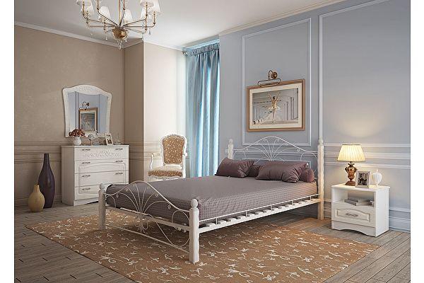 Кровать из массива Mebwill Фортуна 1 Белый - белый
