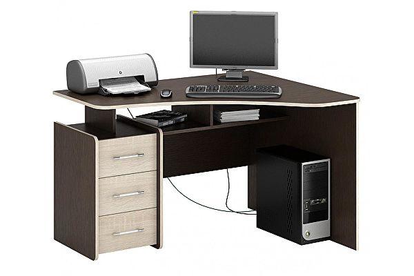 Угловой компьютерный стол МФ Мастер Триан-5 правый
