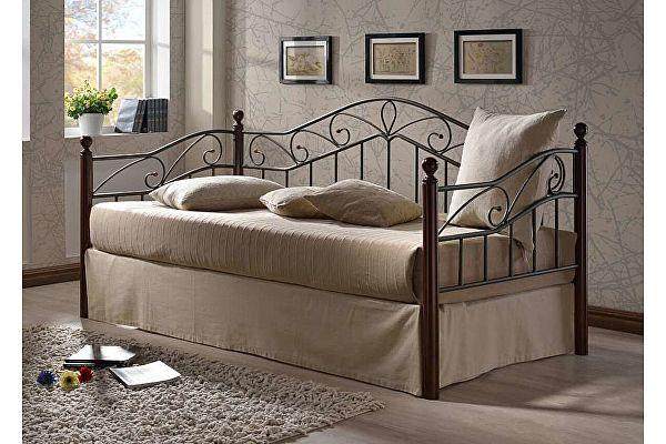 Кровать односпальная МИК Melis MK-5234-RO Темная вишня 200х90