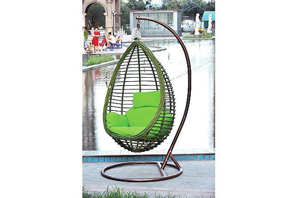 Подвесное кресло МИК MK-3632-GW Коричневый/зеленый
