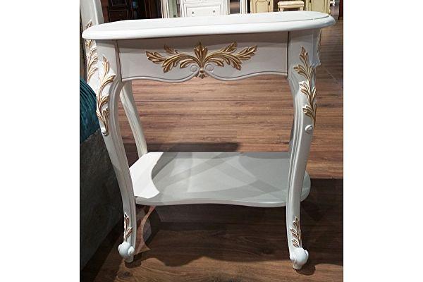 Тумбочка прикроватная МИК Мебель Shantal MK-5011-WG Белый с золотом