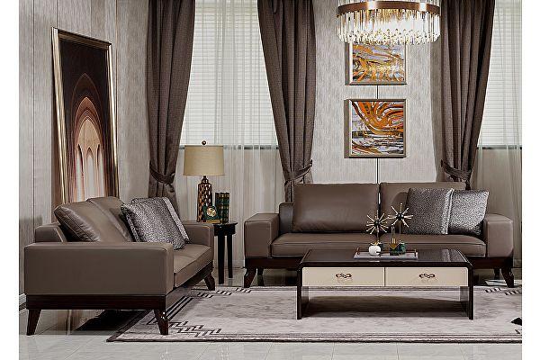Диван 3-х местный МИК Мебель MK-8126 Шоколадный